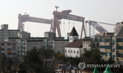 조선업 침체에 울산 동구도 불황 [연합뉴스 자료사진]
