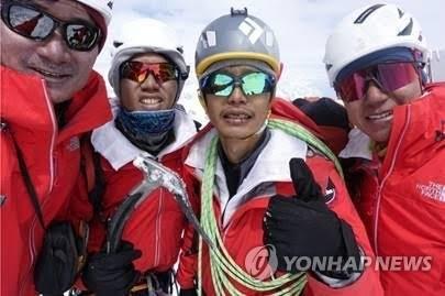 '2017 코리안 웨이 인도 원정대' 당시 김창호 대장(맨왼쪽 [노스페이스 제공=연합뉴스]  (끝)