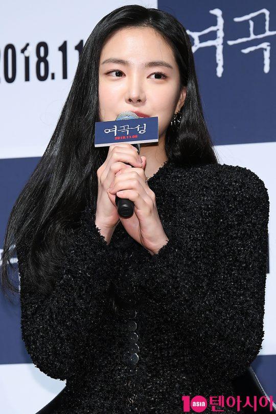 에이핑크 손나은이 17일 오전 서울 신사동 CGV 압구정에서 열린 영화 '여곡성' 제작보고회에 참석했다./ 이승현 기자 lsh87@
