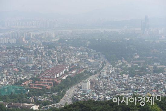서울 남산에서 바라본 서울도심 전경.(자료사진)
