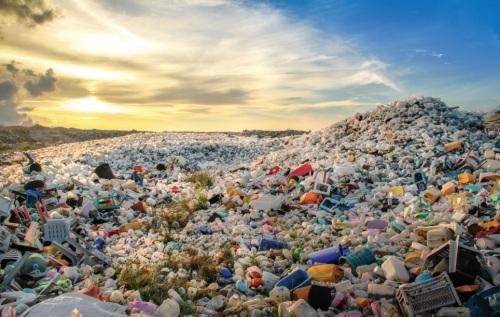 몰디브의 쓰레기 처리장.