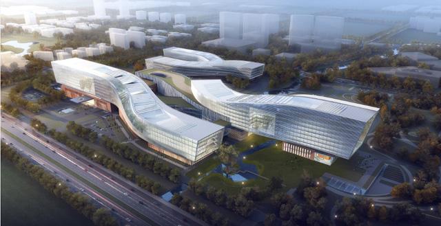 중국이 안후이성 허베이시에 계획 중인 세계 최대 양자 연구소 조감도
