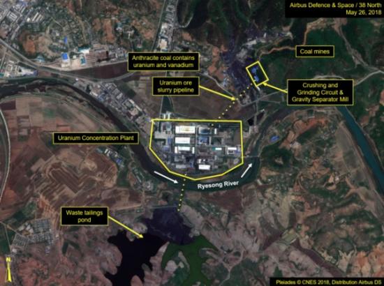 38노스에서 2일 공개한 북한 황해북도 평산의 우라늄 정련공장의 모습(사진=https://www.38north.org/)