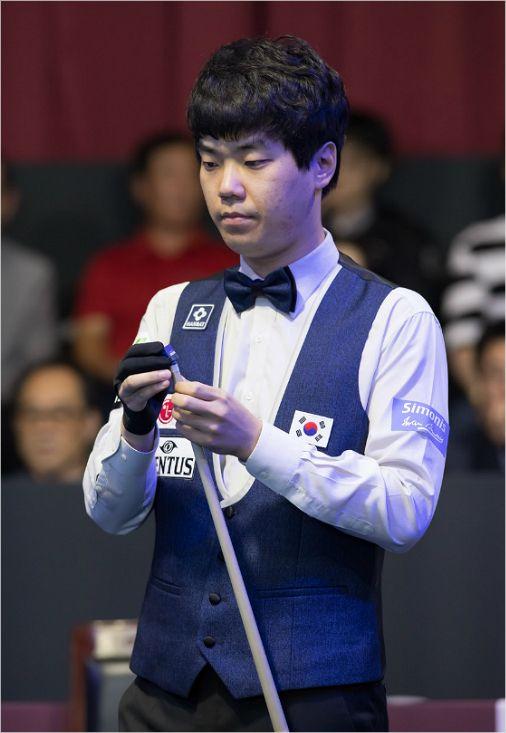 지난해 청주직지월드컵 우승자 김행직은 12일부터 열리는 서울월드컵에서 2년 연속 우승에 도전한다.(사진=대한당구연맹)
