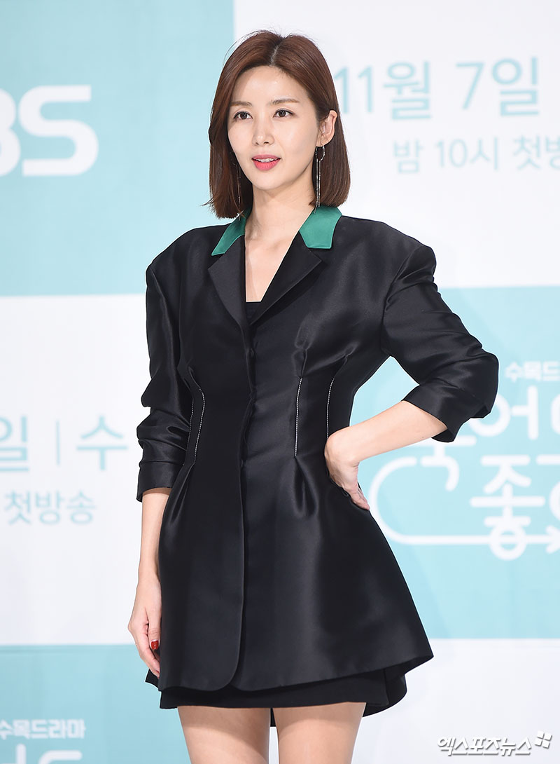 <p>Park Sol-mi, who attended the KBS 2TV New MBC Wednesday-Thursday evening drama Good to Die production presentation at the Amusement Hall at Time Square in Yeongdeungpo-gu, Seoul on May 5, is posing.</p>