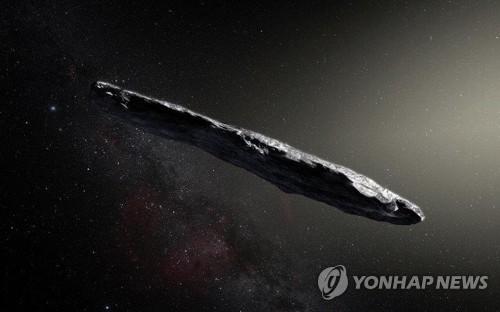 태양계 방문 첫 외계 천체 '오무아무아' 혜성 상상도 [유럽남부천문대(ESO) 제공]