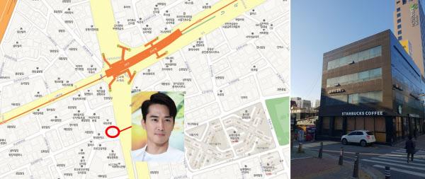 송승헌씨가 2006년 매입한 서울 강남구 신사동 건물 위치(왼쪽)와 외관. /빌사남 제공