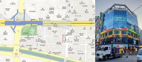 송씨가 최근 서울 종로구 관철동에 매입한 종각역 메인상권 건물. /빌사남 제공