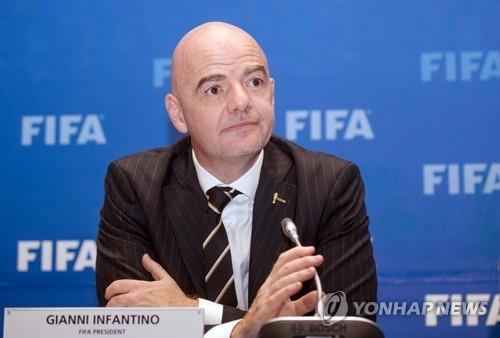 인판티노 FIFA 회장 [로이터=연합뉴스 자료사진]