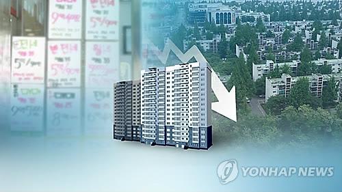 주택거래 하락 (CG)  [연합뉴스TV 제공]