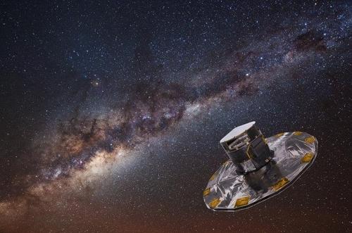 천체 지도 만드는 가이아 위성 상상도 [출처:유럽우주국]