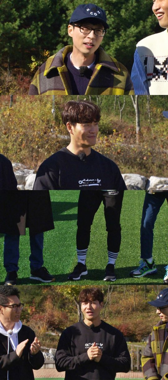 """<p>SBS 'Running Man'Yoo Jae Suk of the singer Kim Jong-kooks long pants in every picture felt like crying and did.</p><p>Coming 18 days afternoon 4: 50 Minutes broadcast of 'Running Man'members of the team to get a glimpse 'You Running Man, How do you know?'In this Legend as a guest again came back to learn the strong and the Yeti, and Red Velvets Irene, Joy, together, 'not even peek-a-Boo' couple lace decorated.</p><p>At the opening members are in shorts mania, Kim Jong-kook is the long pants and the whole look and surprise you. Especially Yoo Jae Suk """"last year 12 mid-March from the mouth did not?""""""""about to?. The end is now was an old man,""""he said by bashing carnival Barker. This Kim Jong-kook is the city rebound does not, and the years felt the weight of it seemed bittersweet smile to show the scene.</p>"""