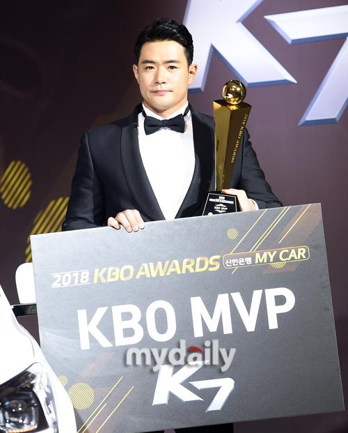 두산 김재환, 금지약물 논란 딛고 최우수 선수 '우뚝'
