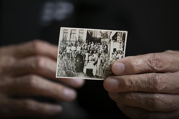 ⓒ시사IN 이명익 1945년 9월12일, 중국 충칭 대한민국 임시정부 청사에서 열린 차리석 선생 장례식 사진.