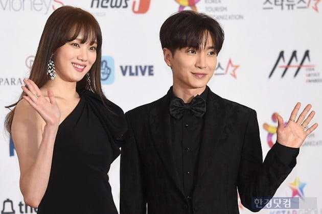 <p>Actor Lee Sung-kyung, Super Junior Leeteuk, this 28 afternoon, Incheon, driving in Paradise City, the Hotel opened in 2018 Asia Artist Awards(2018 Asian Artist awards) from the red carpet to attend the ceremony for the photo.</p>