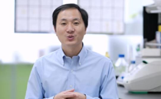 유전자 조작 아기를 세계 최초로 탄생시키는데 성공했다 주장 중인 중국 선전남방과기대의 허젠쿠이(賀建奎) 교수의 모습(사진=유튜브 캡쳐)