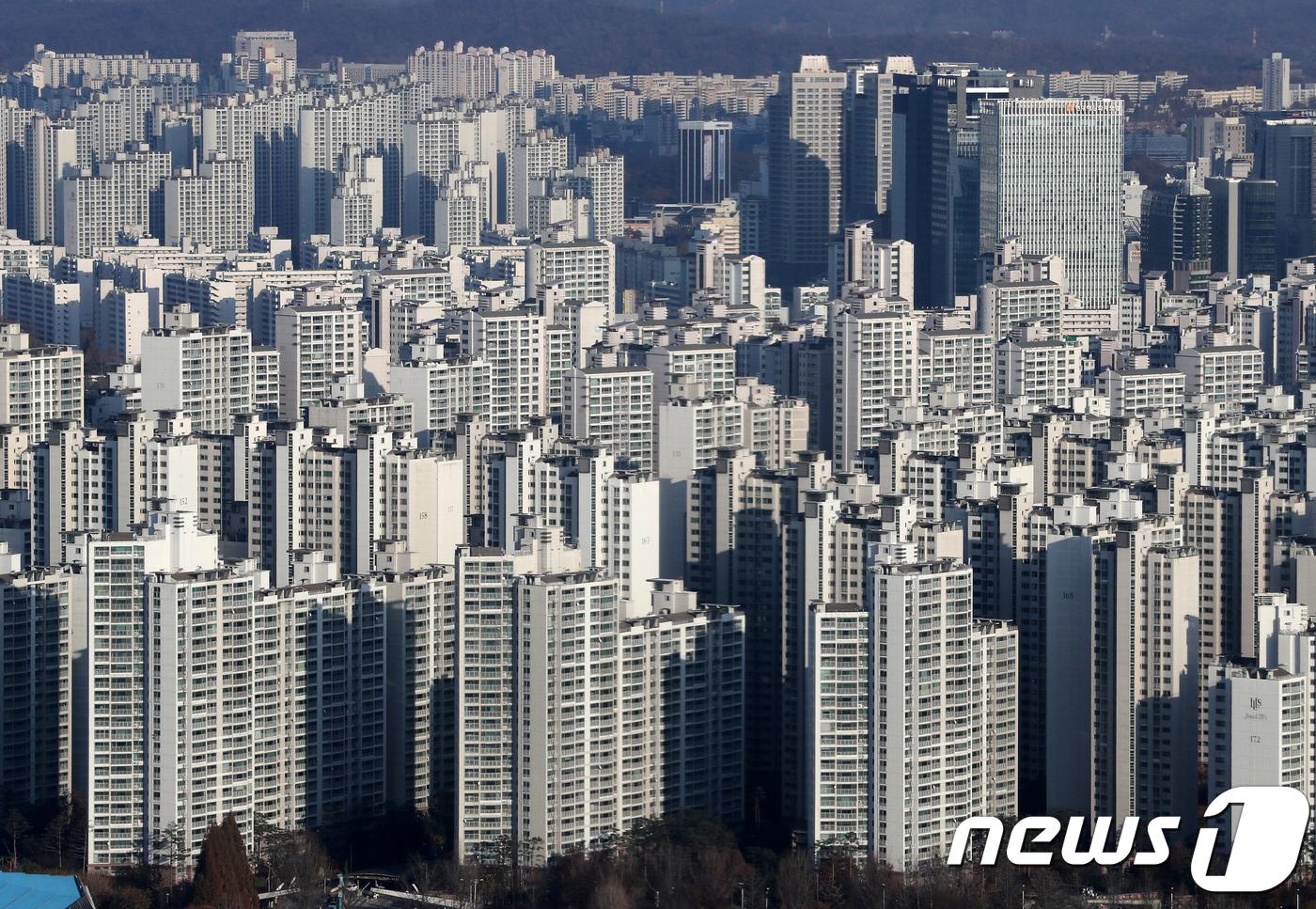 서울의 한 아파트단지의 모습. © News1 구윤성 기자