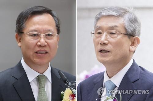 박병대·고영한 박병대 전 대법관(왼쪽)과 고영한 전 대법관 [연합뉴스 자료사진]