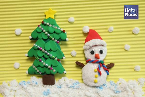 크리스마스 트리, 눈사람 만들기. ⓒ허진