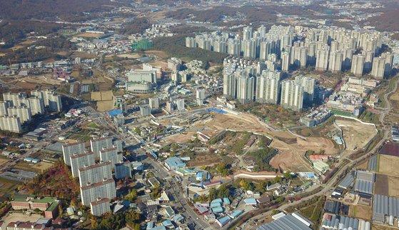 경기도 고양시 일산신도시 주변에서 개발 중인 식사지구 전경. 이달 식사2지구 A2블록에서 GS건설이 '일산자이 3차' 아파트 1333가구를 분양할 예정이다.