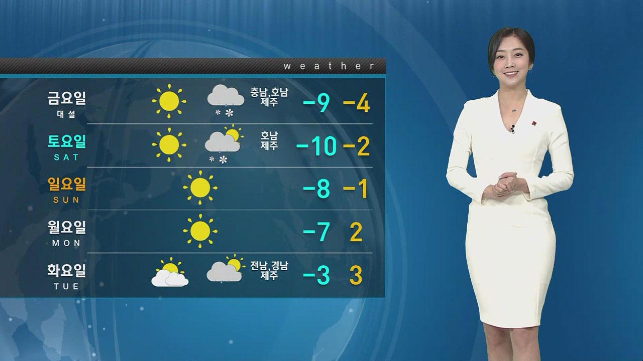 [날씨] '서울 낮 7도' 추위 주춤..흐리고 곳곳 눈·비
