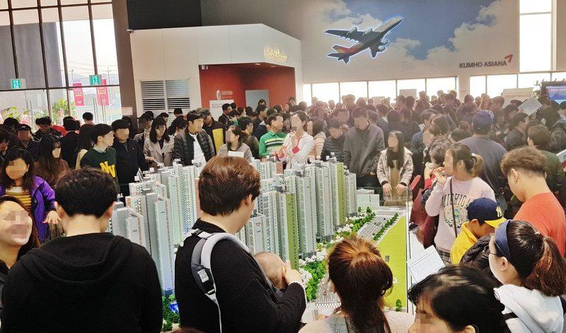 지난 11월 문을 연 인천 검단신도시 '금호어울림' 본보기집 모습. 금호건설 제공