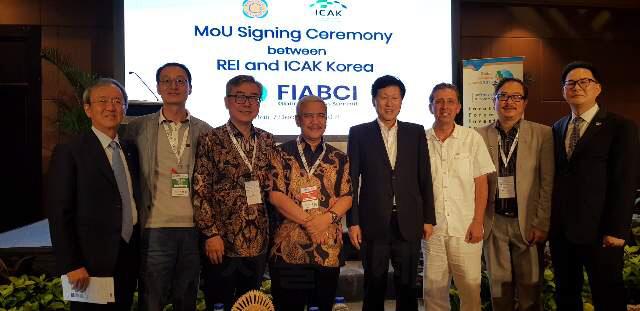 해외건설협회가 인도네시아 부동산협회와 양해각서(MOU)를 체결했다. /사진제공=해외건설협회
