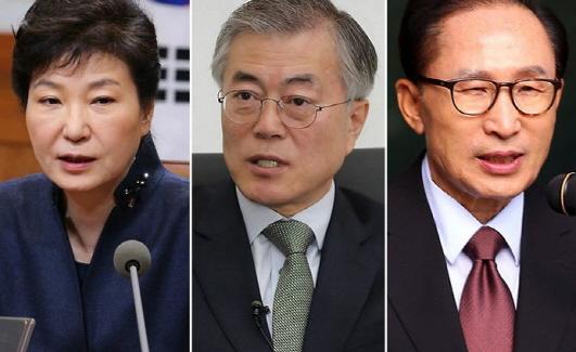 문재인 �통령, 박근혜·이명박 전 �통령.[사진=연합뉴스]