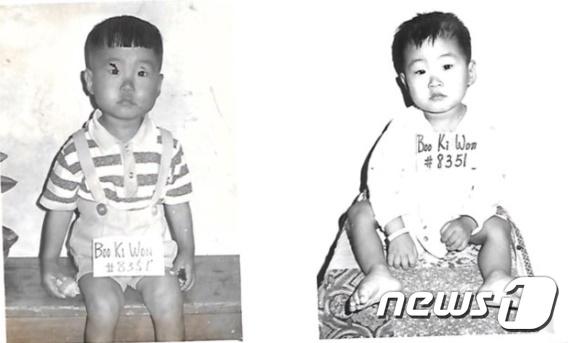 뱅상 보두(51)의 1971년 입양 당시 사진. (뱅상 보두 제공) 2018.12.10/뉴스1 © News1