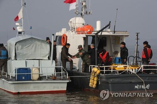 한강하구 남북 공동수로조사 [연합뉴스 자료 사진]