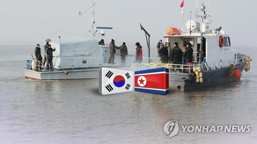 65년 만에…남북, 한강하구 공동 수로조사(CG) [연합뉴스TV 제공]