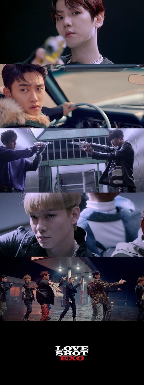 엑소 'Love Shot' 발매 사진='Love Shot' MV 티저 영상캡처