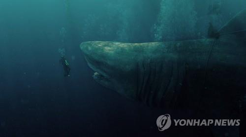 영화 '메갈로돈'의 한 장면 [워너브라더스코리아 제공]