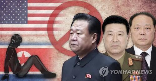 미국_북한 최룡해·정경택·박광호 제재 (PG) [최자윤 제작] 사진합성·일러스트