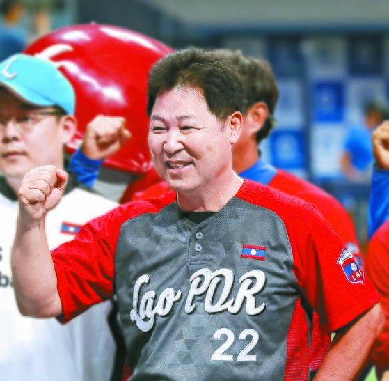 이만수 라오스야구협회 부회장이 인도네시아 자카르타-팔렘방 아시안게임에 출전하는 라오스 야구 대표팀을 이끌고 한국을 찾았다. [뉴스1]