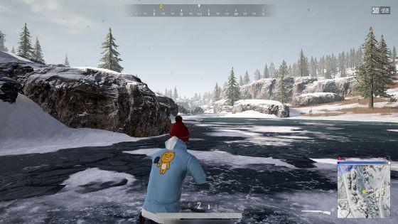 설원지역인 비켄디는 강도 얼어붙어 자유롭게 건널 수 있다.