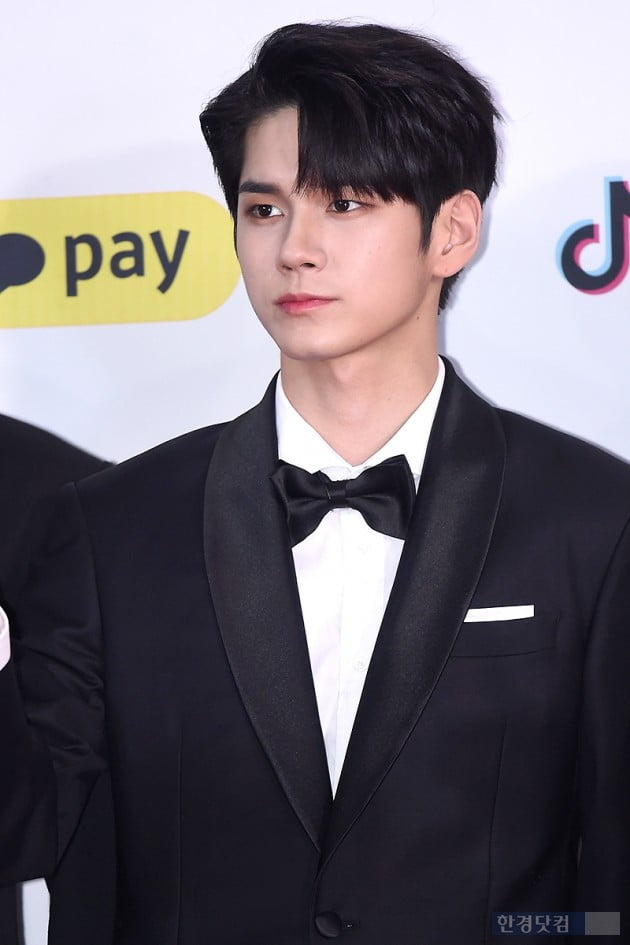 <p>Group Wanna One Ong Seong-wu of 25 days off and rinse and wash the sky dome opened in 2018 the SBS Gayo Daejeon on the red carpet to attend the ceremony for the photo.</p>