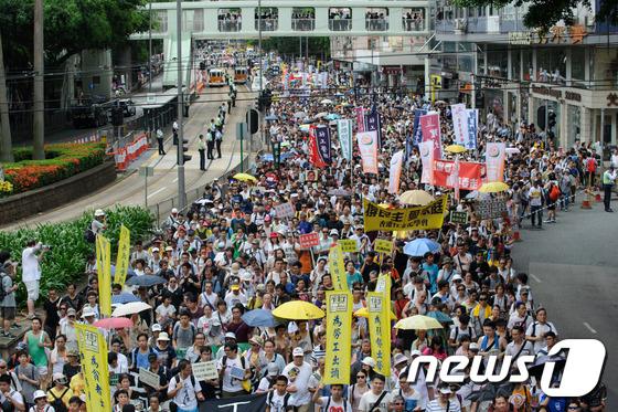 홍콩의 민주화를 촉구하는 시위. © AFP=뉴스1 자료 사진