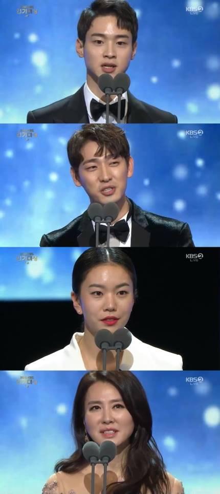 장동윤·윤박·이일화·이설 연작 단막극상 수상 [2018 KBS 연기대상]