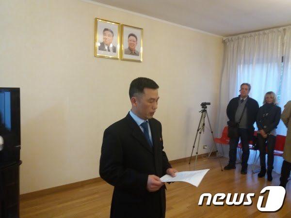 지난해 말 망명을 시도한 것으로 파악된 조성길 주이탈리아 북한대사관 대사대리(줄리아 폼필리 트위터) 2019.01.04./뉴스1© News1