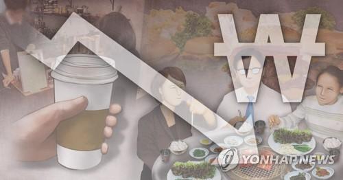 외식 횟수ㆍ비용 하락(PG) [이태호 제작] 사진합성·일러스트
