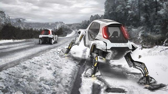현대자동차가 'CES 2019'에서 걸어 다니는 차 '엘리베이트' 콘셉트카를 첫 공개했다. (사진=현대자동차)