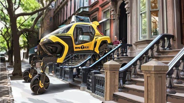 엘리베이트는 기존 자동차가 접근이 어려운 험난한 지형에서도 쉽게 걷거나 오를 수 있다.(사진=현대자동차)