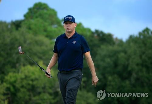 42세의 PGA투어에 데뷔한 크리스 톰프슨.[AFP=연합뉴스]