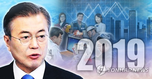 문재인 대통령 2019년 경제정책(PG) [이태호 제작] 사진합성·일러스트
