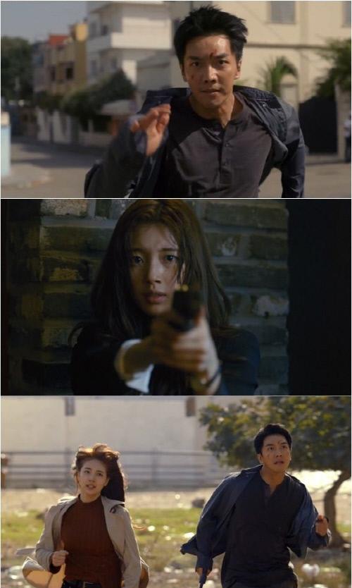 SBS 새 수목극 '배가본드'의 배우 이승기(맨 위), 수지. 사진 | SBS 제공