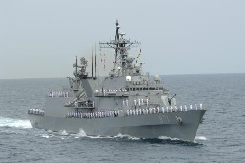 해군 구축함 광개토대왕함은 동해상을 중심으로 활동하고 있다. 해군 제공