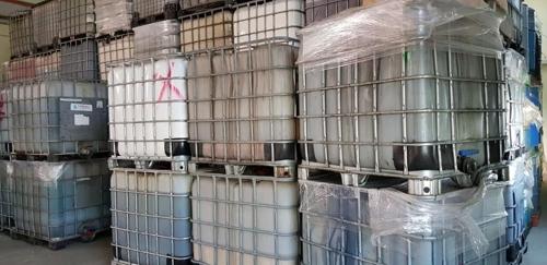충북 음성의 한 공장에 버리다 적발된 폐기물 [독자 제공]