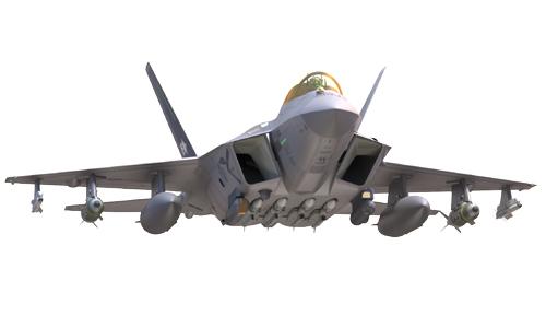 한국형전투기(KF-X) 상상도. 스텔스 기능을 갖춘 전투기로 개발될 예정이다. 방위사업청 제공