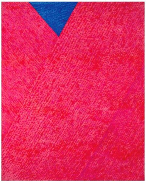 붉은 점화 '3-II-72 220', 김환기